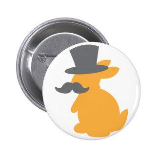 top hat bunny 6 cm round badge