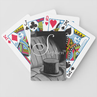 Top Hat charcoal drawing Bicycle Playing Cards