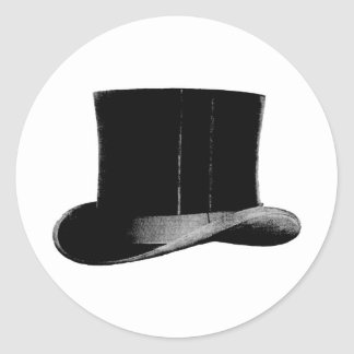 top hat classic round sticker