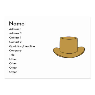 Top Hat illustration. Brown. Pack Of Chubby Business Cards