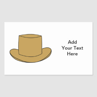 Top Hat illustration. Brown. Sticker