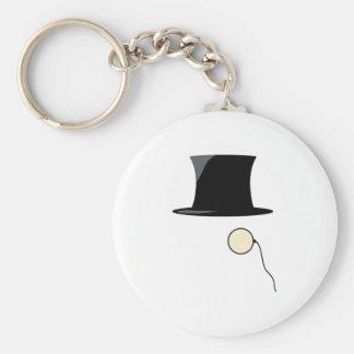 Top Hat Monocle Key Chains