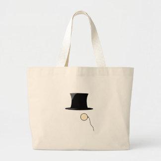 Top Hat Monocle Canvas Bags