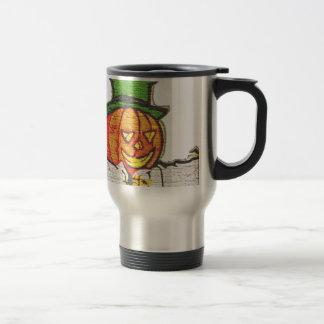 Top Hat Pumpkin Stainless Steel Travel Mug