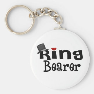 Top Hat Ring Bearer Basic Round Button Key Ring