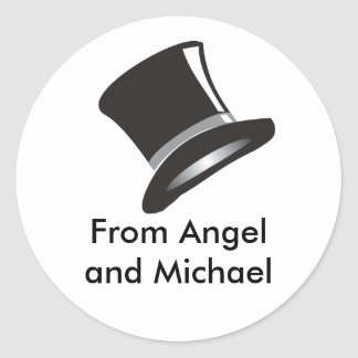 Top Hat Round Sticker