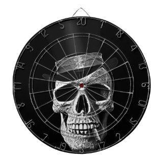 Top hat skull dartboard