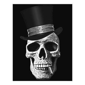 Top hat skull 21.5 cm x 28 cm flyer