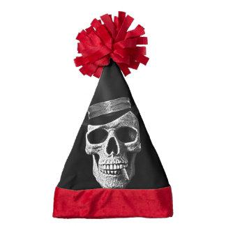 Top hat skull santa hat