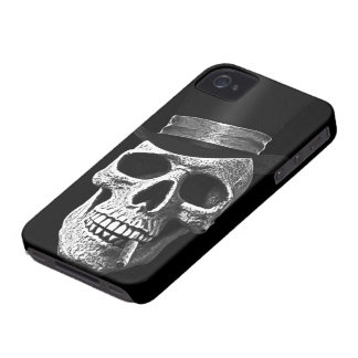 Top hat skull iPhone 4 cases