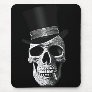 Top hat skull mouse pad