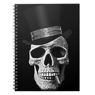 Top hat skull notebook