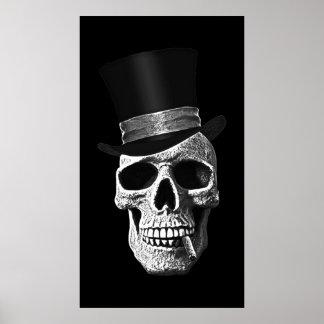 Top hat skull poster