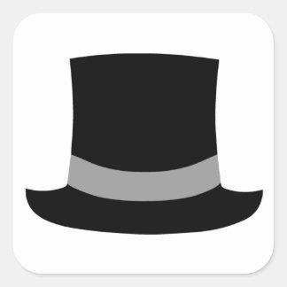 Top Hat Square Sticker