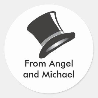 Top Hat Round Stickers