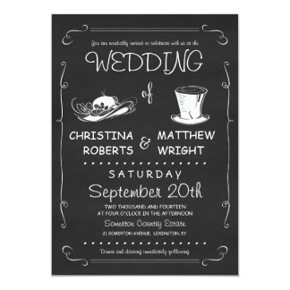 Top Hat Wedding Invitations Template