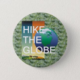 TOP Hiking the Globe 6 Cm Round Badge