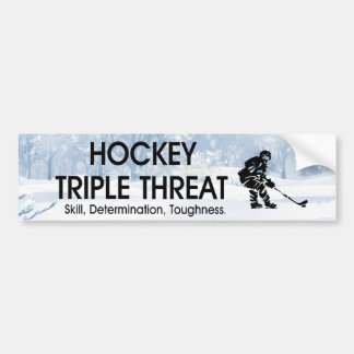 TOP Hockey Triple Threat Bumper Sticker