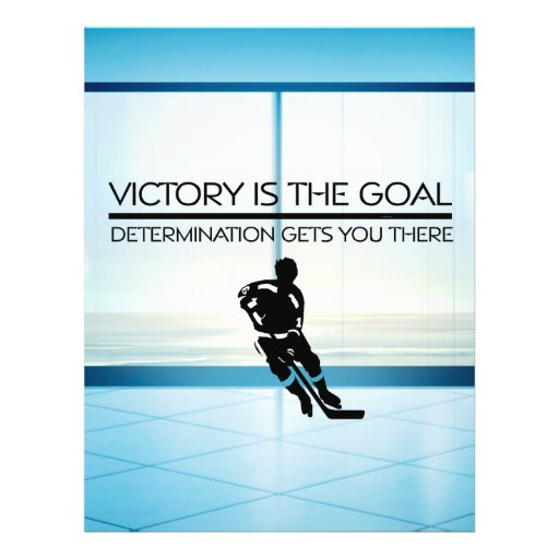 TOP Hockey Victory Slogan Personalized Flyer