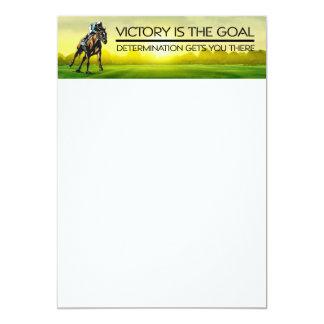 TOP Horse Race Victory Slogan 13 Cm X 18 Cm Invitation Card