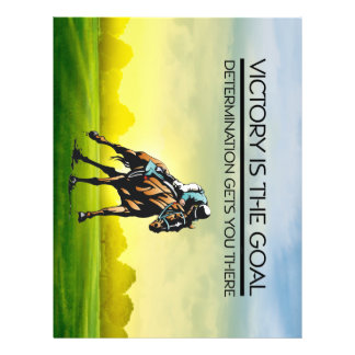 TOP Horse Race Victory Slogan 21.5 Cm X 28 Cm Flyer