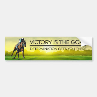 TOP Horse Race Victory Slogan Bumper Sticker
