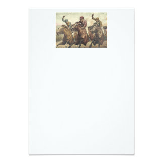 TOP Horse Racing 13 Cm X 18 Cm Invitation Card