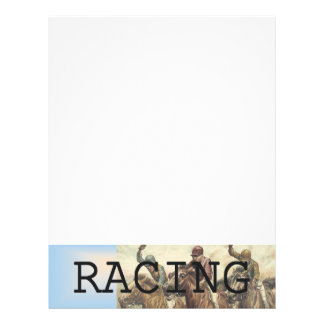 TOP Horse Racing 21.5 Cm X 28 Cm Flyer