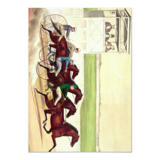 TOP Horse Racing Is My Life 13 Cm X 18 Cm Invitation Card