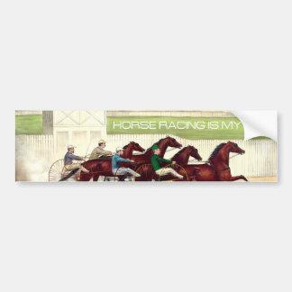 TOP Horse Racing Is My Life Bumper Sticker