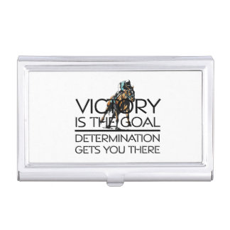 TOP Horse Racing Victory Slogan Business Card Holder