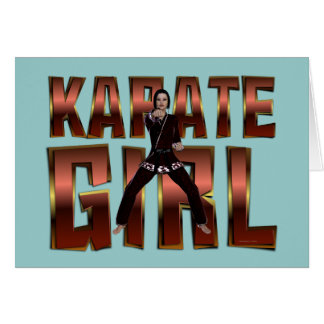TOP Karate Girl Card