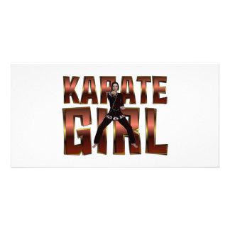 TOP Karate Girl Customised Photo Card