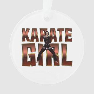 TOP Karate Girl Ornament