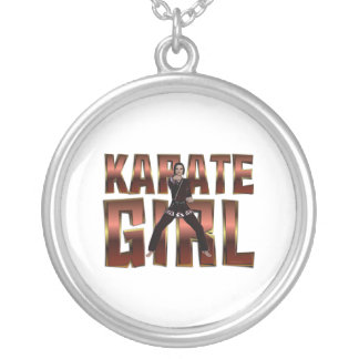 TOP Karate Girl Silver Plated Necklace