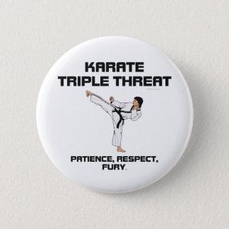 TOP Karate Slogan 6 Cm Round Badge