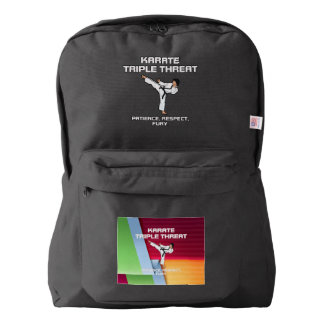 TOP Karate Slogan Backpack