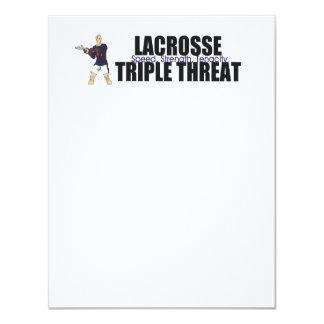 TOP Lacrosse Triple Threat 11 Cm X 14 Cm Invitation Card