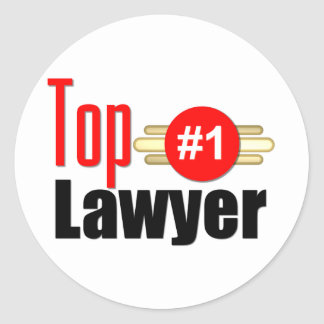TOP Lawyer Classic Round Sticker