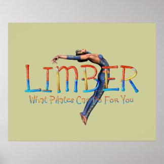TOP Limber Pilates Poster