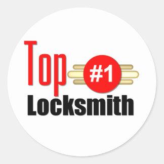 Top Locksmith Classic Round Sticker