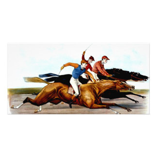 TOP Love Horse Racing Personalised Photo Card