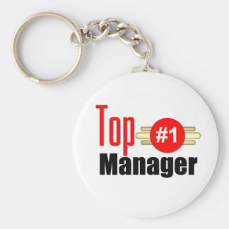 Top Manager Basic Round Button Key Ring