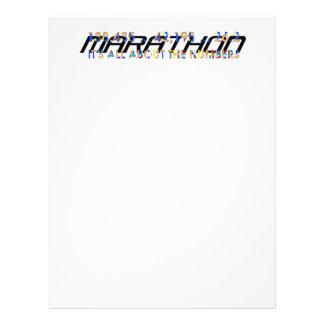 TOP Marathon Numbers 21.5 Cm X 28 Cm Flyer