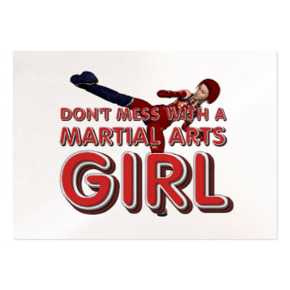 TOP Martial Arts Girl Business Cards