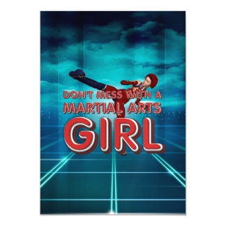 TOP Martial Arts Girl Magnetic Invitations