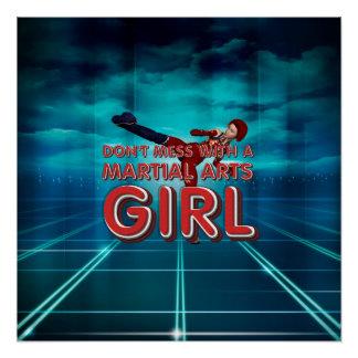 TOP Martial Arts Girl Perfect Poster