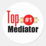 Top Mediator Round Stickers