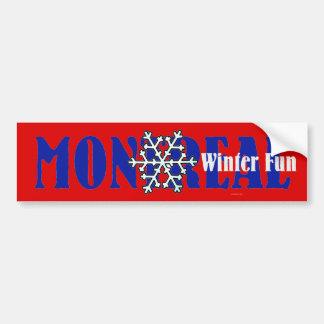 TOP Montreal Winter Fun Bumper Sticker