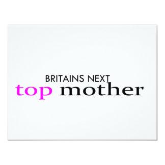 top mother 11 cm x 14 cm invitation card